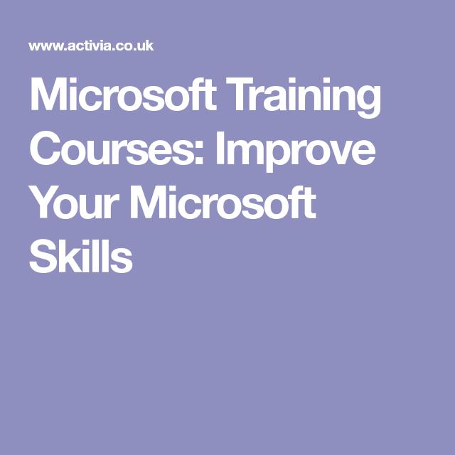 Microsoft Training Courses Improve Your Microsoft Skills Excel
