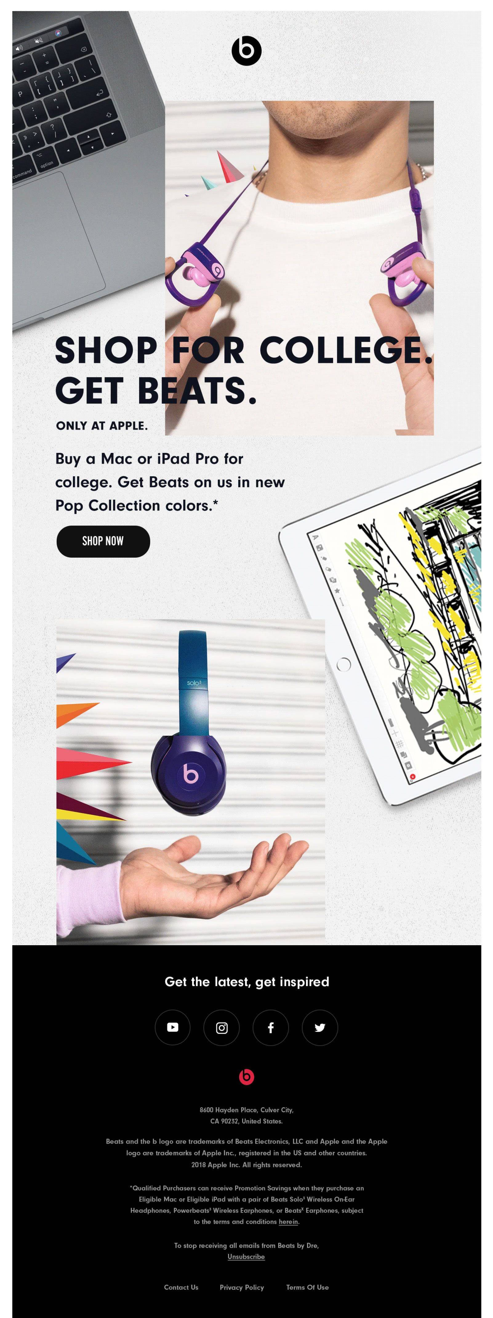Subject Line Enjoy Beats with your Mac or iPad Pro this