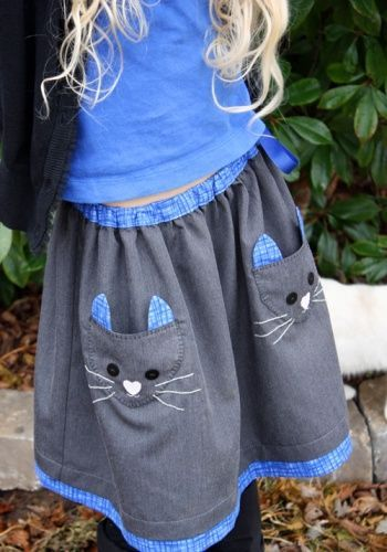 Idea for pockets on skirt- Ottobre Cat Skirt by SewChic | Project ...