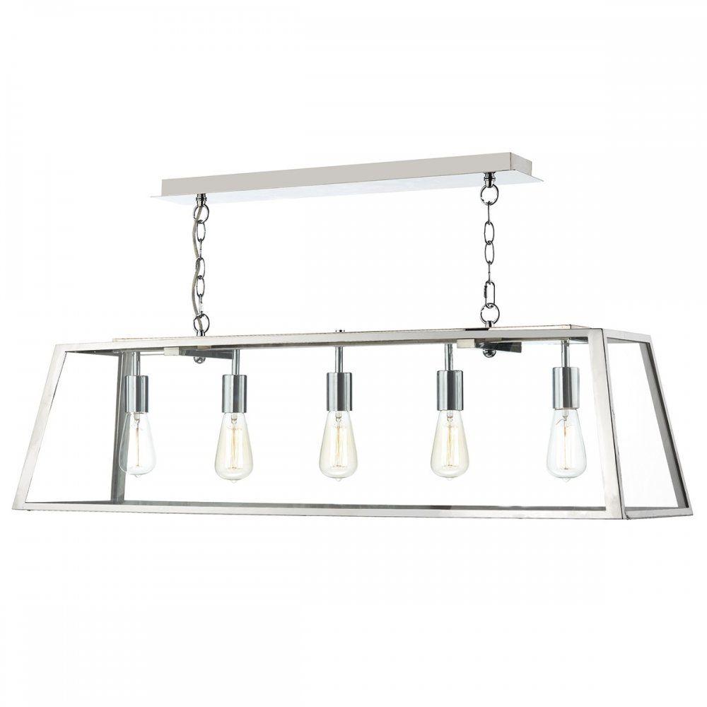 industrial style pendant lighting. Dar Lighting Academy 5 Light Industrial Style Pendant In Stainless Steel G