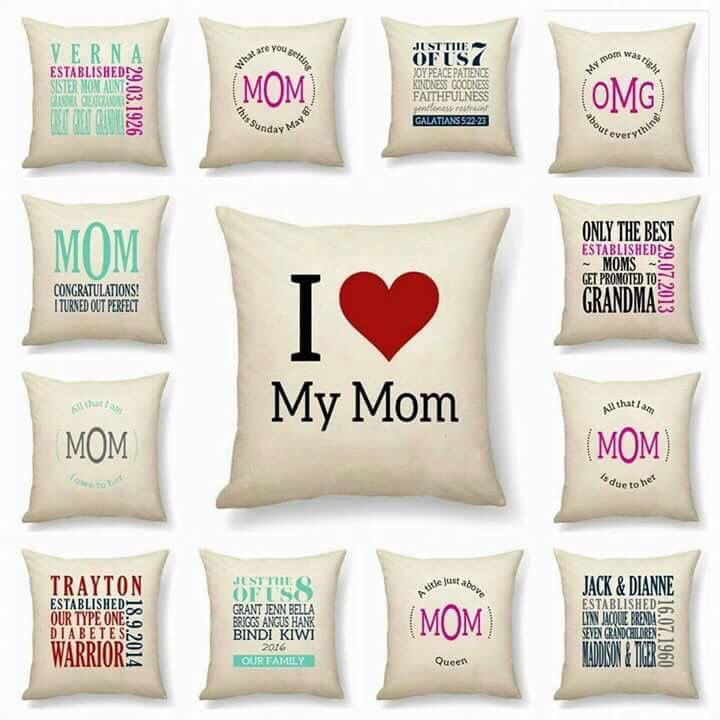 Mother\'s Day Pillow Options. There\'s so much to love! Check it out ...