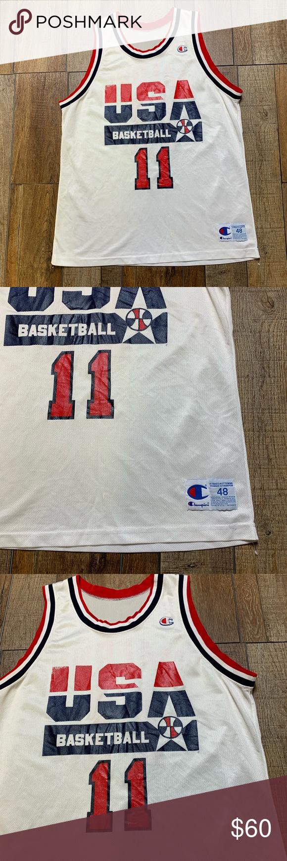 c71cce88ed5 Karl Malone Utah Jazz Team USA NBA Champion Jersey Excellent Condition Karl  Malone #11 Utah Jazz Team USA Olympics Dream Team RARE WHITE 🔥🔥🔥 Size 48  / XL ...