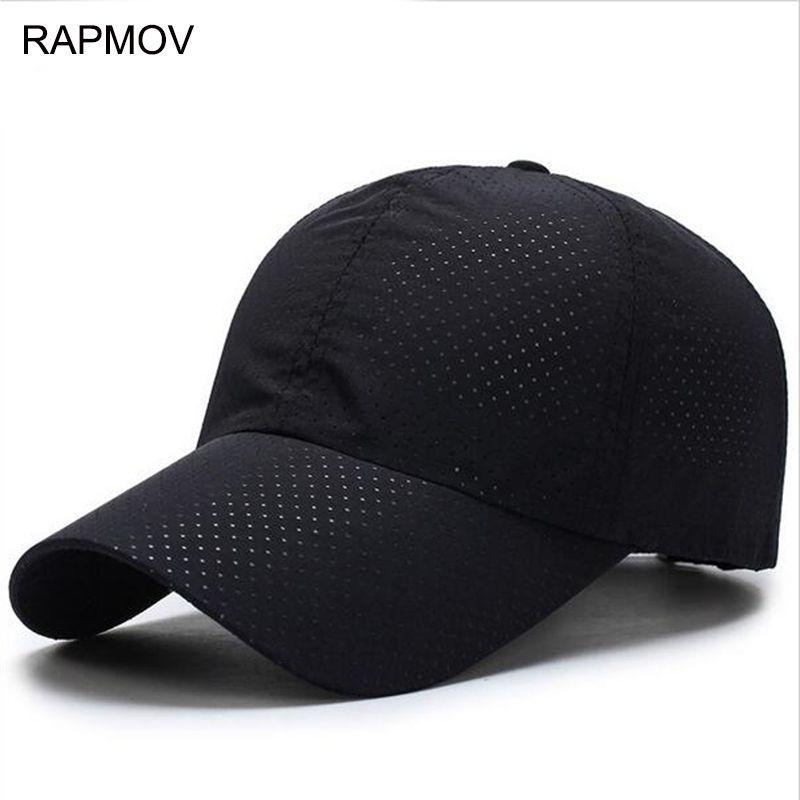 5210f6ca5bf Men Women 2017 Summer Snapback Quick Dry Mesh Baseball Cap Sun Hat Bone Breathable  Hats