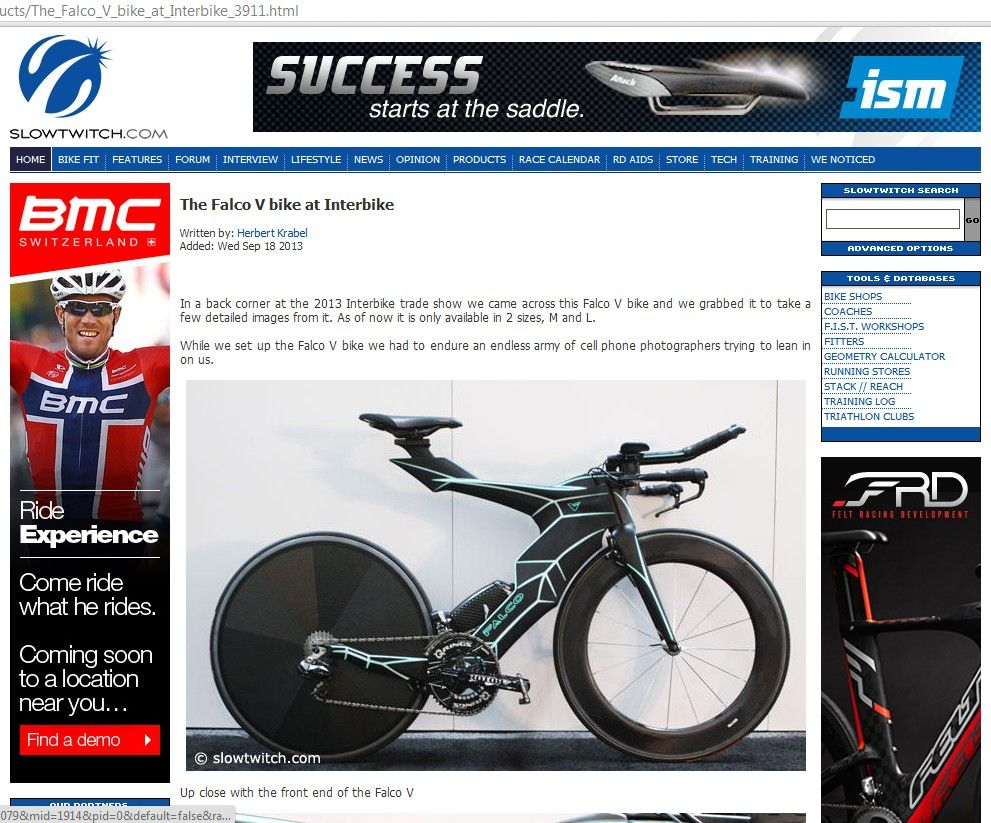Falco Bike Recruiting Pro And Age Group Athletes To Be Our Brand