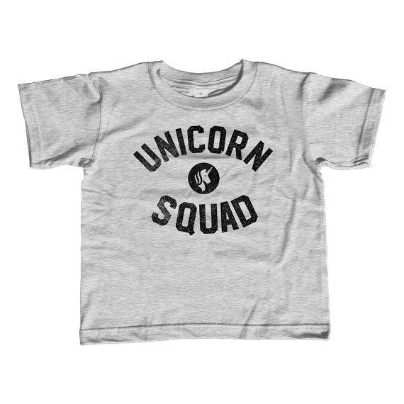 2ca5025ca Kids Unicorn Squad Shirt - Toddler Boys or Girls Unicorn Shirt - Unicorn  Birthday - Unicorn Party - Hipster Unicorn T-Shirt - 2T-Youth Large
