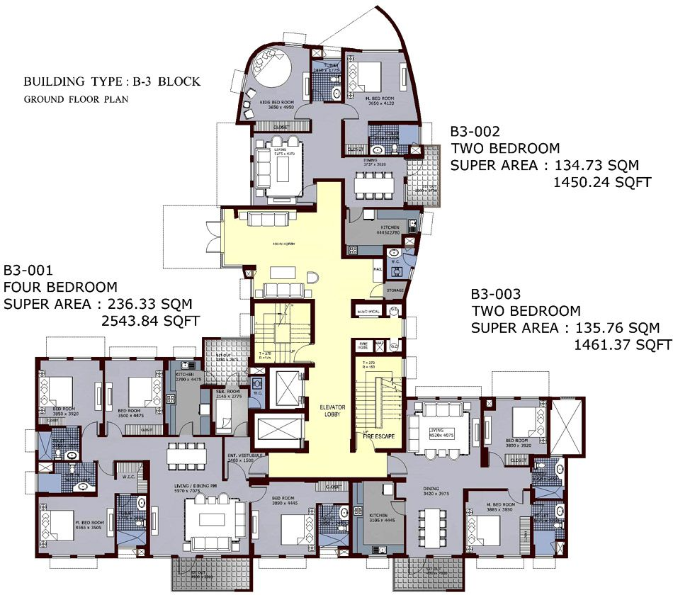 High rise apartment building floor plans latest for Residential building plans