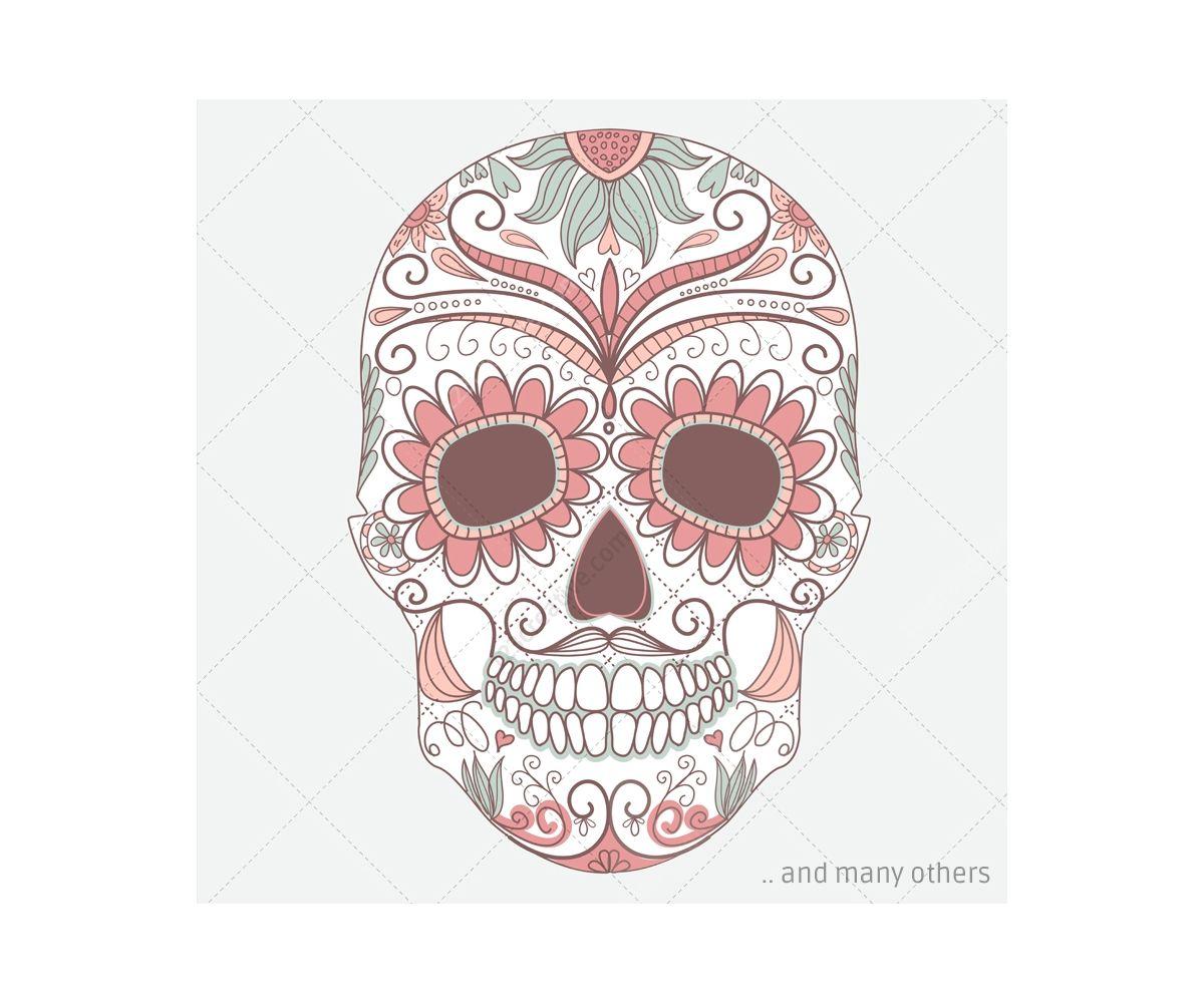 Sugar skulls sugar skull vectors and skull patterns sugar sugar skulls sugar skull vectors and skull patterns sugar skull with roses and pronofoot35fo Images