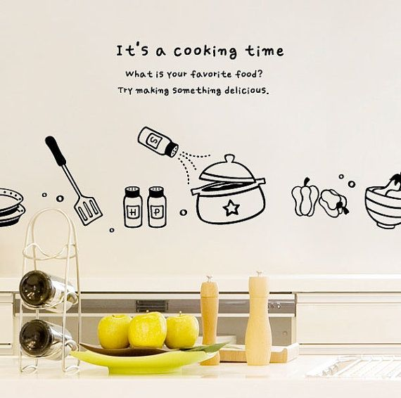 Quick Changes for Your Kitchen: Vinyl Wall Decals