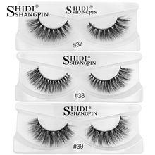b10dbb86c2a SHIDISHANGPIN 1 pair false eyelashes natural eyelash extension 3d mink  lashes hand made mink eyelashes makeup