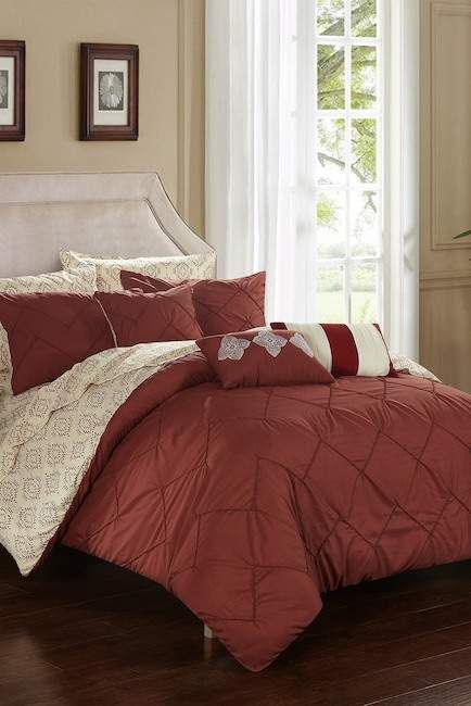 Dahlia Reversible Oversized Overfilled Bed In A Bag Comforter Set