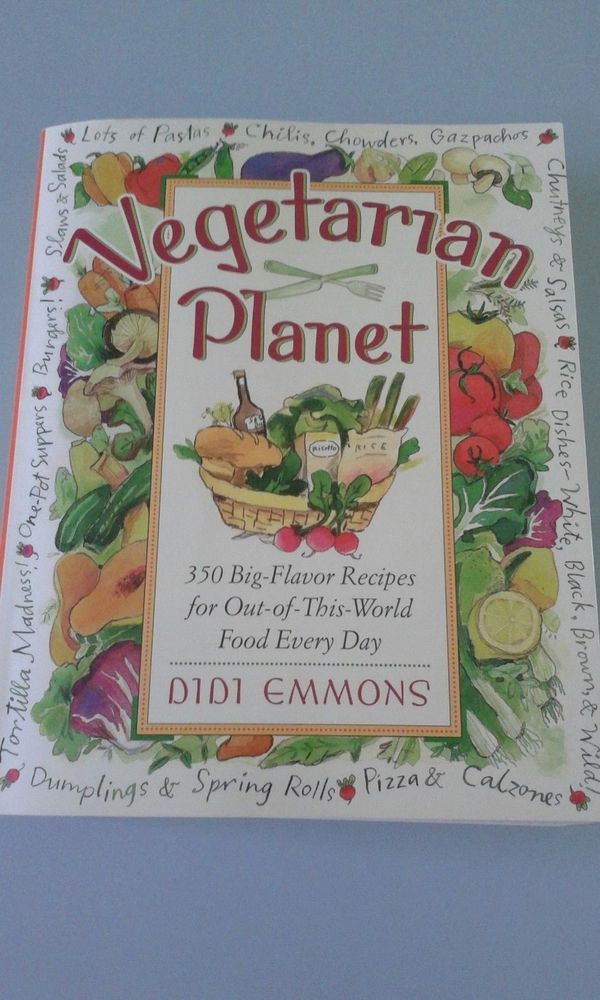 350 Recipes Vegetarian Planet by Didi Emmons Paperback Book (English)