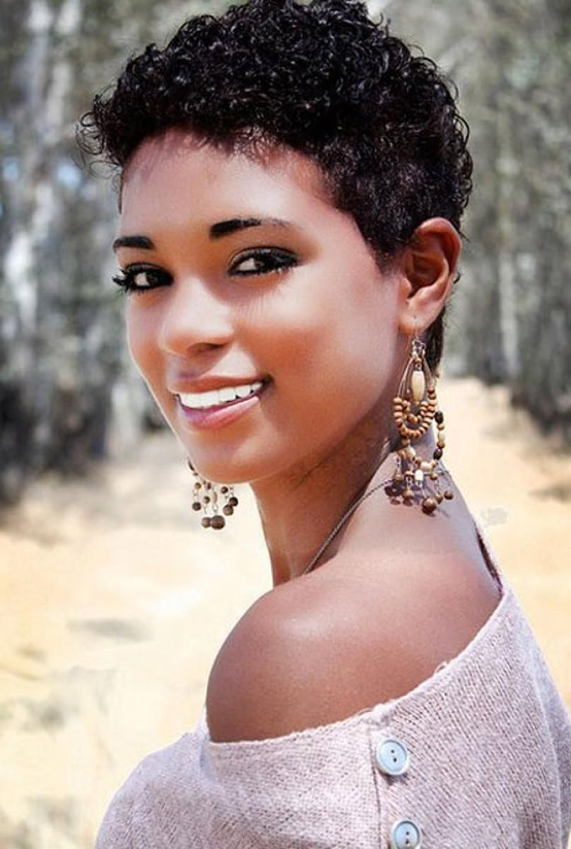 black short curly hairstyles for black women | natural beauty