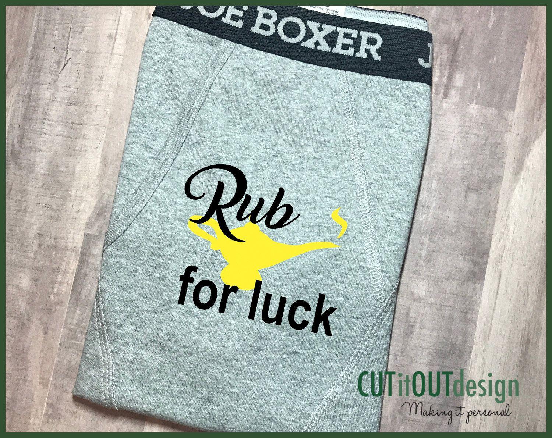 Funny Boxer briefs husband boyfriend Rub for Luck Boxers