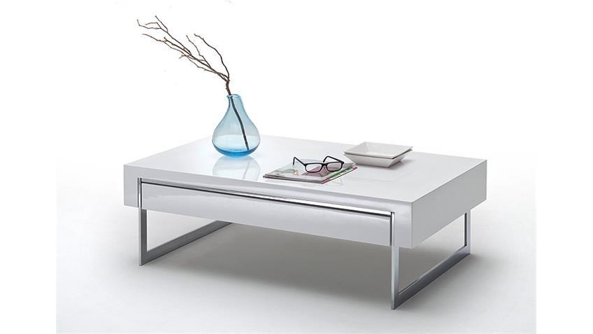 Tisch 110 Cm.Couchtisch Cooper Beistelltisch Tisch Weiß Hochglanz 110 Cm