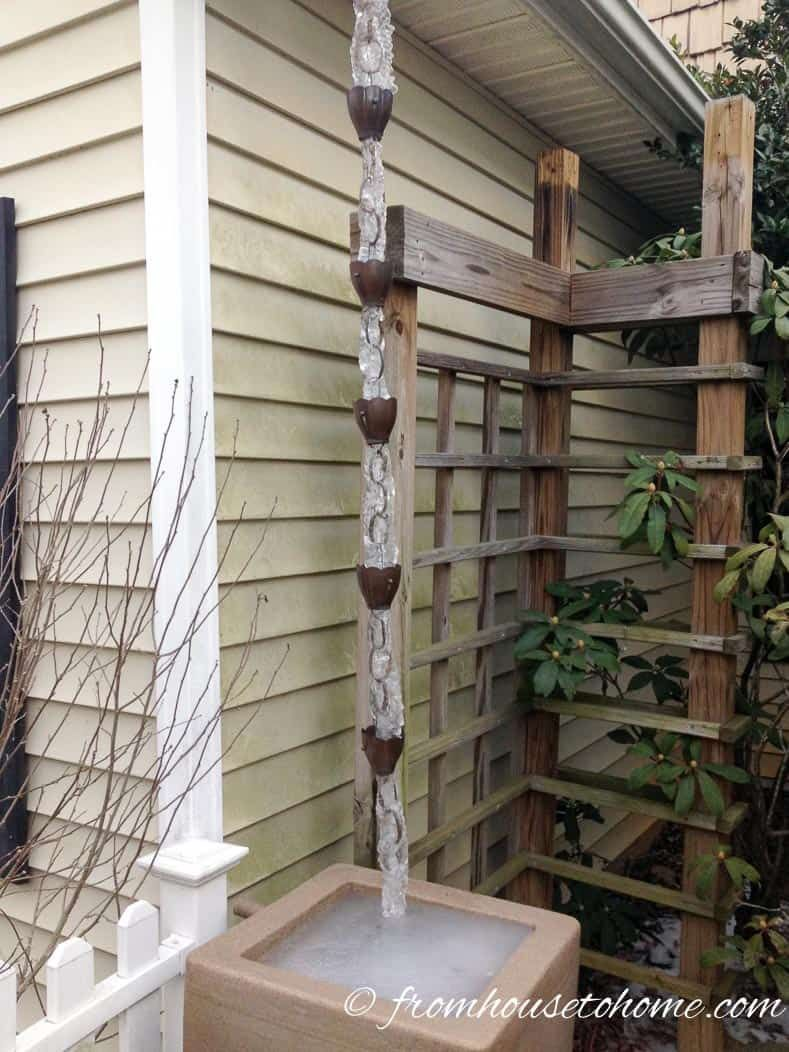 Why People Are Using Rain Chains Instead Of Downspouts Rain Chain Rain Chain Garden Rain Chain Diy