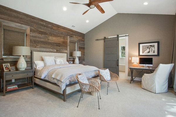 Bedroom Wood Wall Paneling Ideas Furniture Design Jpg 600 399 Rustic Master Bedroom Farmhouse Style Master Bedroom Rustic Farmhouse Bedroom