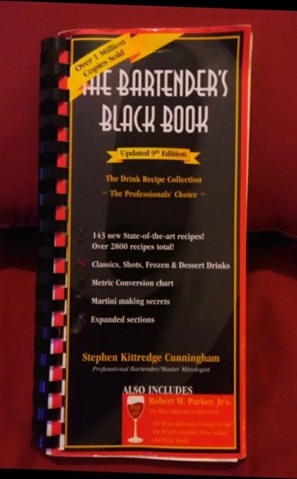 The Bartender S Black Book Updated 9th Edition Books Other