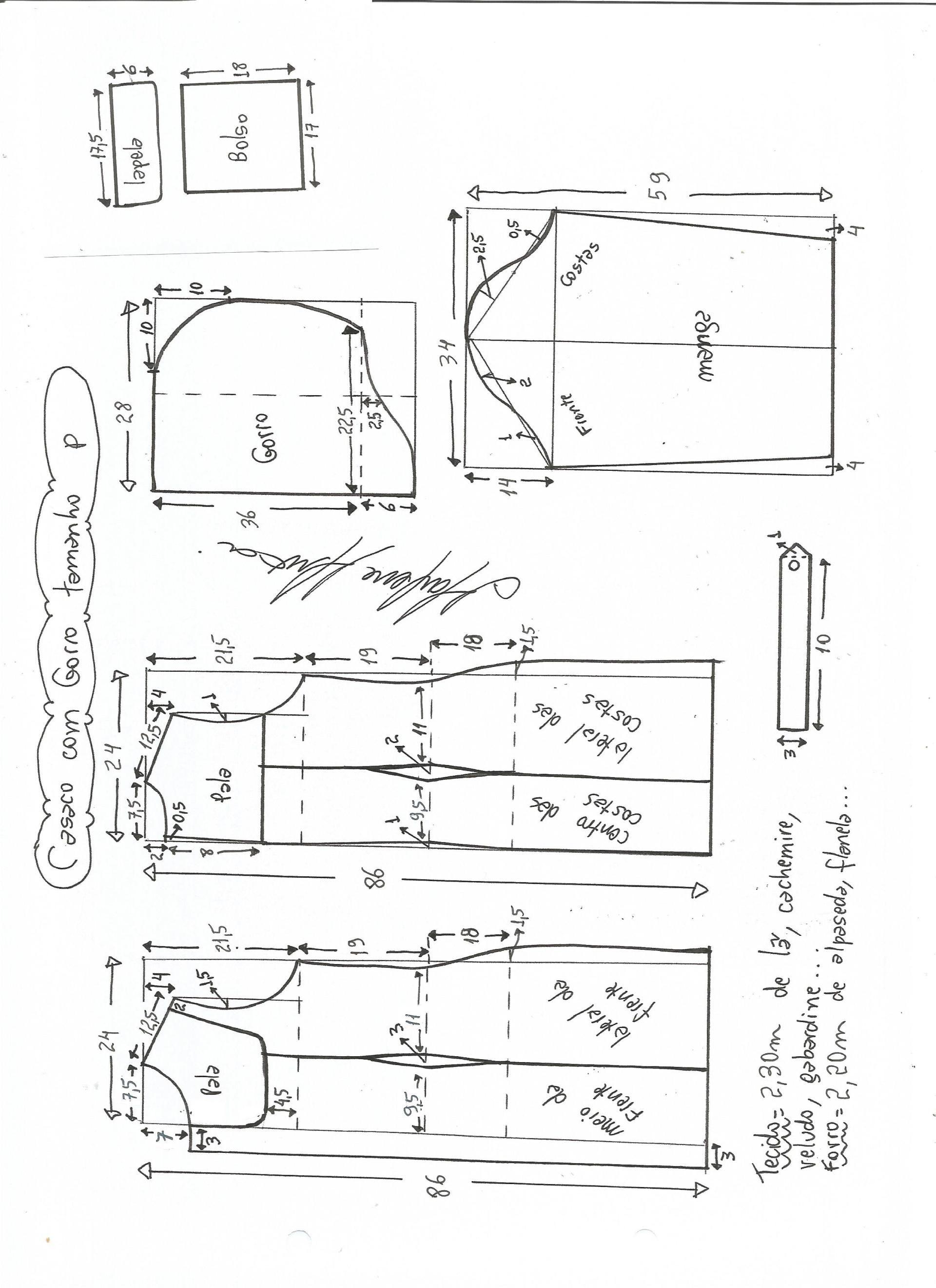 Patrón blusa manga americana | Polerones | Patrones, Costura y ...