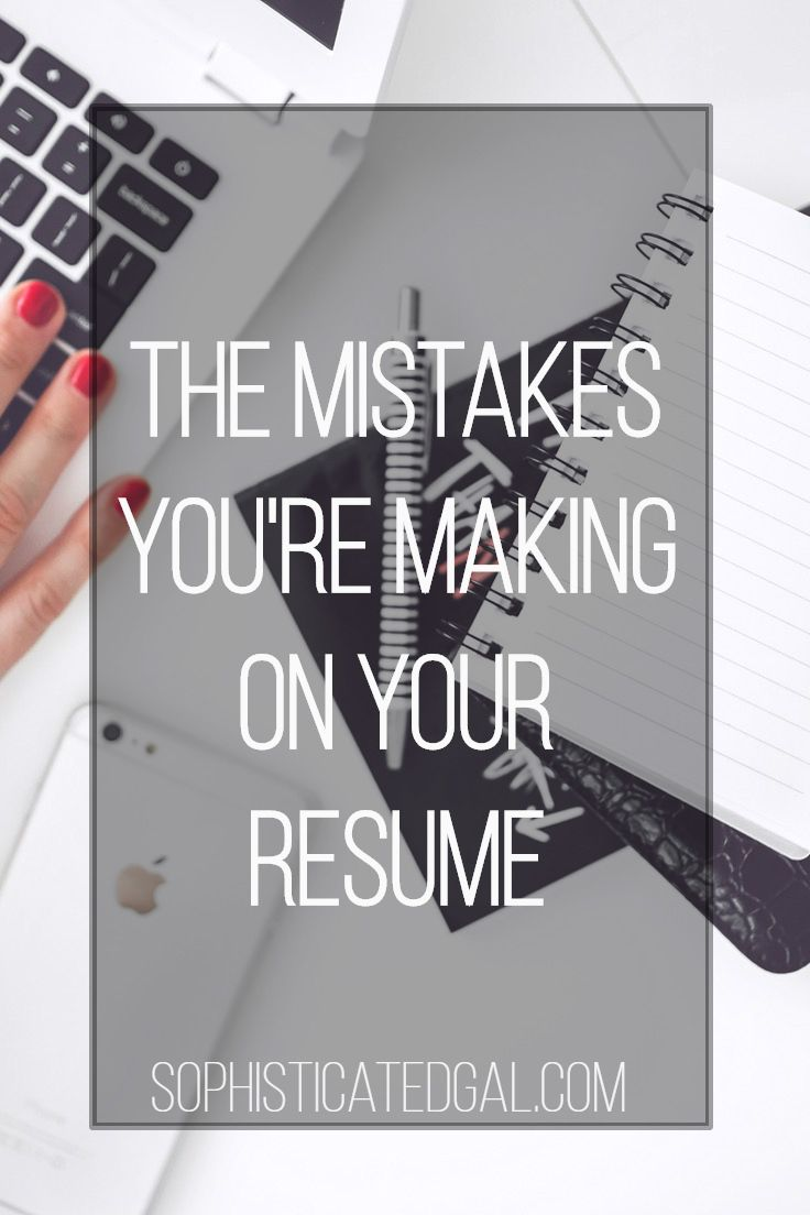the top resume mistakes to avoid