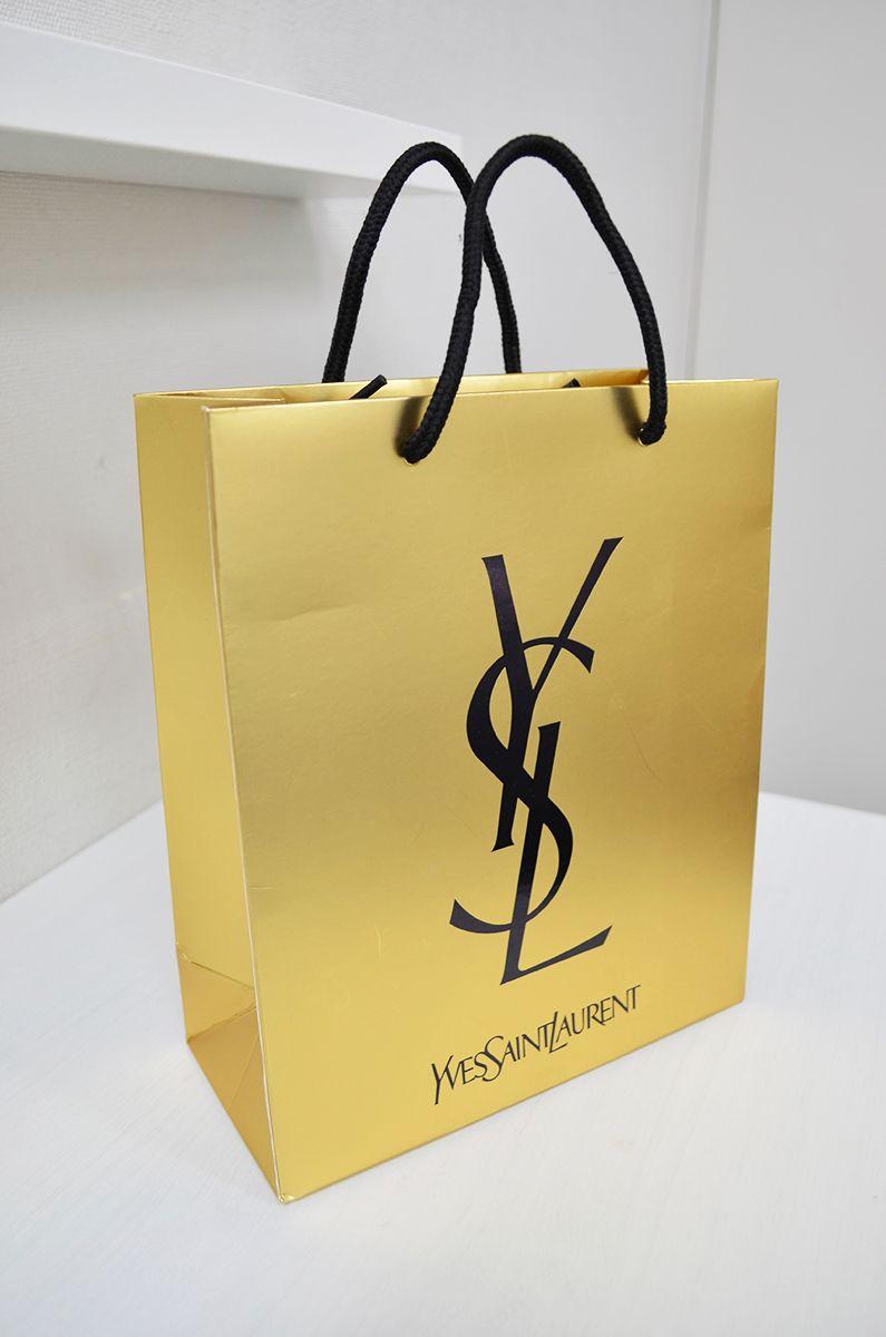 Paper Bag YSL   Shopping Bags   Shopping bag design, Paper ...