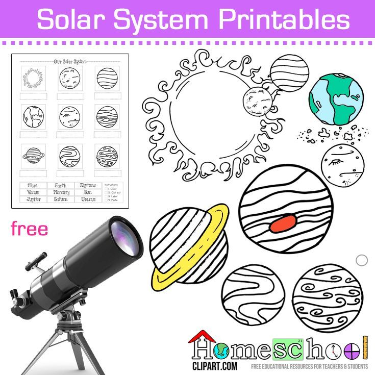 Solar System Coloring Pages, Worksheets & Notebooking Pages. Great ...