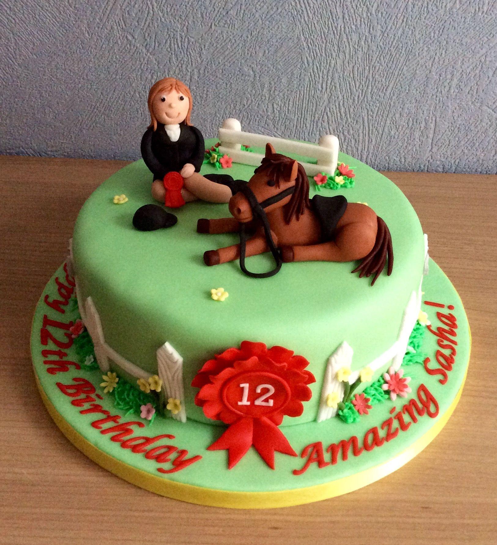 Horse riding cake horse birthday cake horse cake