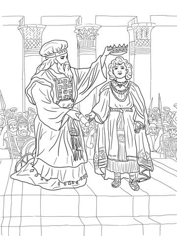 King Joash Crowned Coloring Page Biblejskie Podelki Dlya Detej