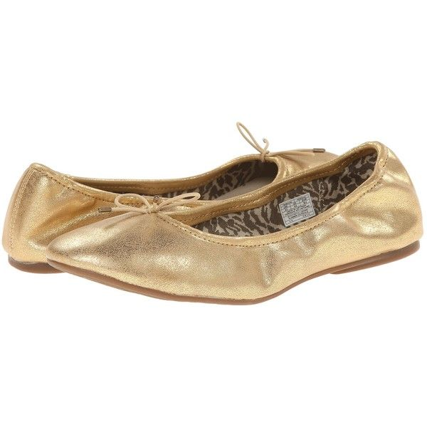 Sanuk Yoga Ballet (Gold) Women's Flat Shoes ($35) ❤ liked on Polyvore