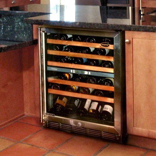 Vinotemp Vt 45sb Butler Bottle Dual Zone Wine Cooler By Vinotemp 1189 98 Finish Stainless Black Pres Integrated Wine Cooler Built In Wine Cooler Wine Fridge