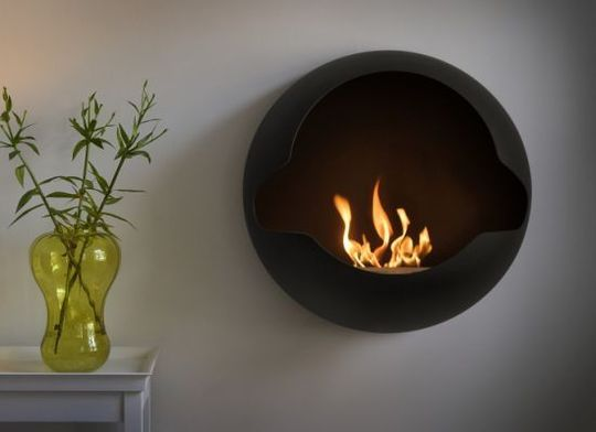 Wall-Mounted Fireplace by Vauni | Wall mount, Brain and Bedrooms