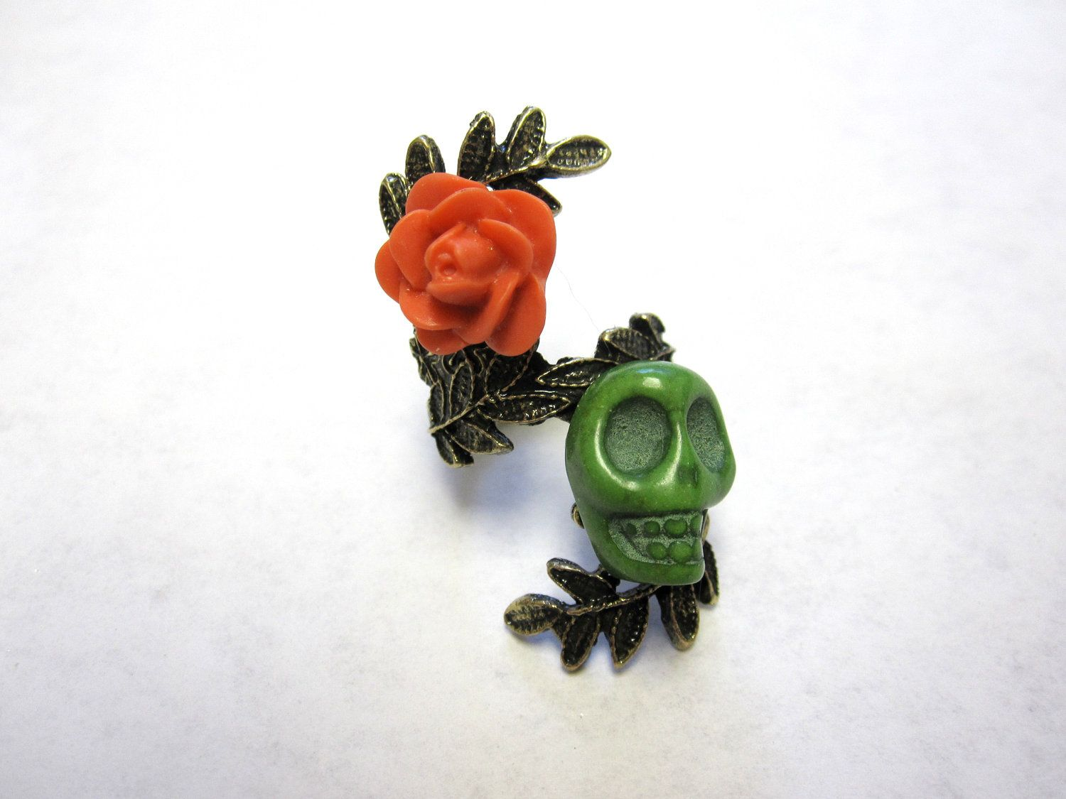 Sugar Skull Ring Day of the Dead Jewelry Skull by sweetie2sweetie, $12.99