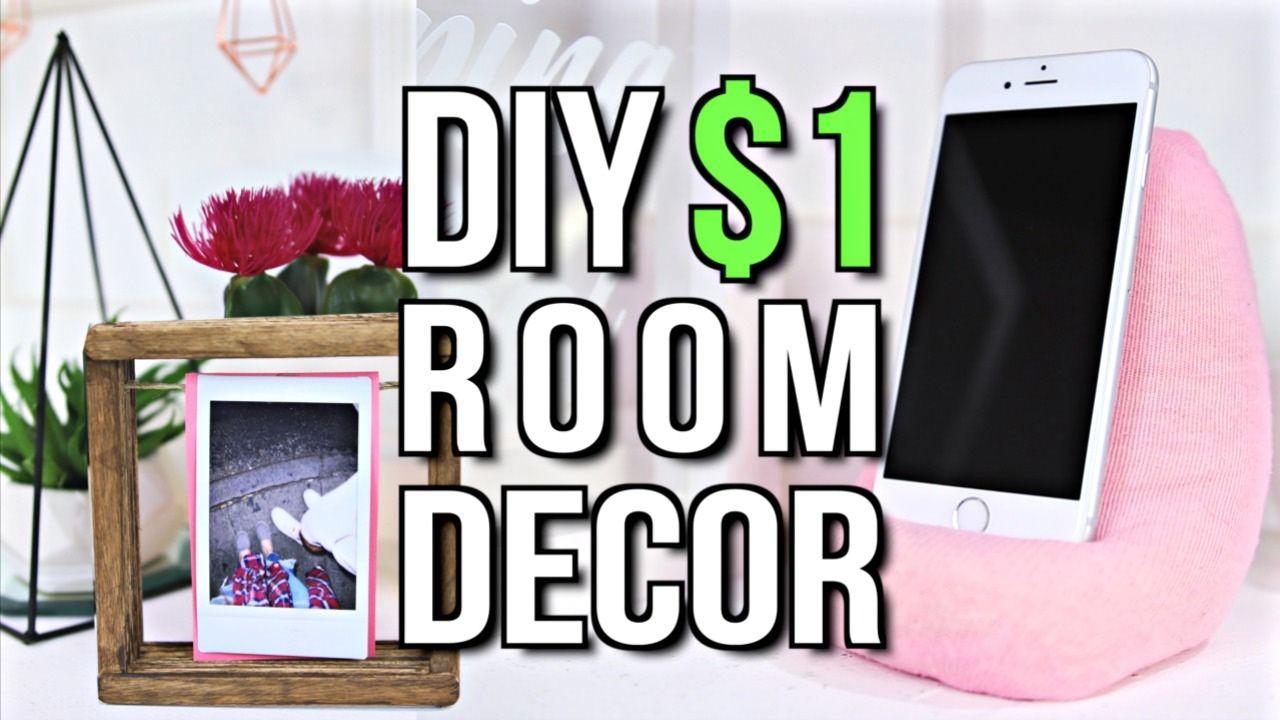 Diy 1 Room Decor Tumblr Inspired 2017 Youtube Diy Room Decor
