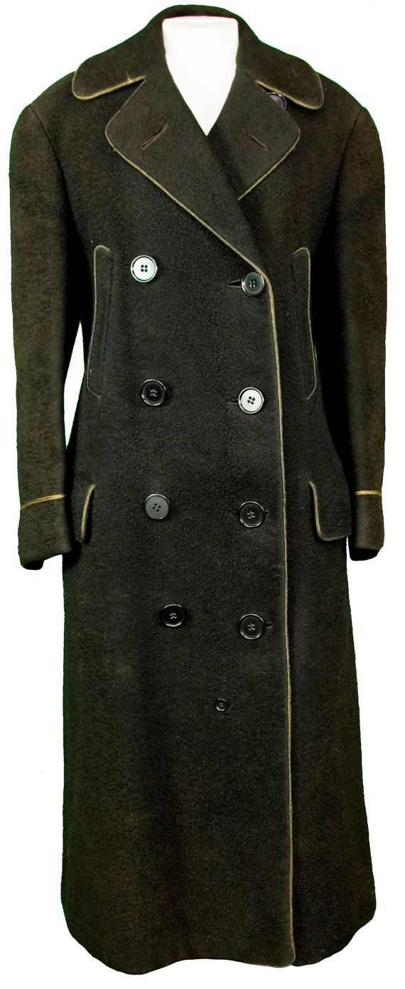 52b587c5cb3c 1900 Mens Peacoat Fisherman Double Breasted Wool Winter Military Navy Auto  Car Coat Jacket Snow Trench