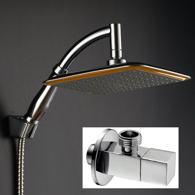 ABS Rainfall Saveing Water Shower Head with angle valve Shower Arm ...