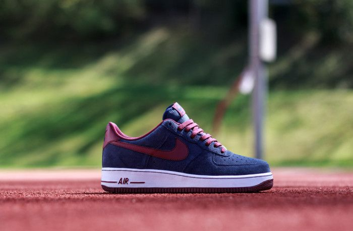 new styles 6d971 f9bc4 Nike Air Force 1 Low Midnight Navy Deep Garnet