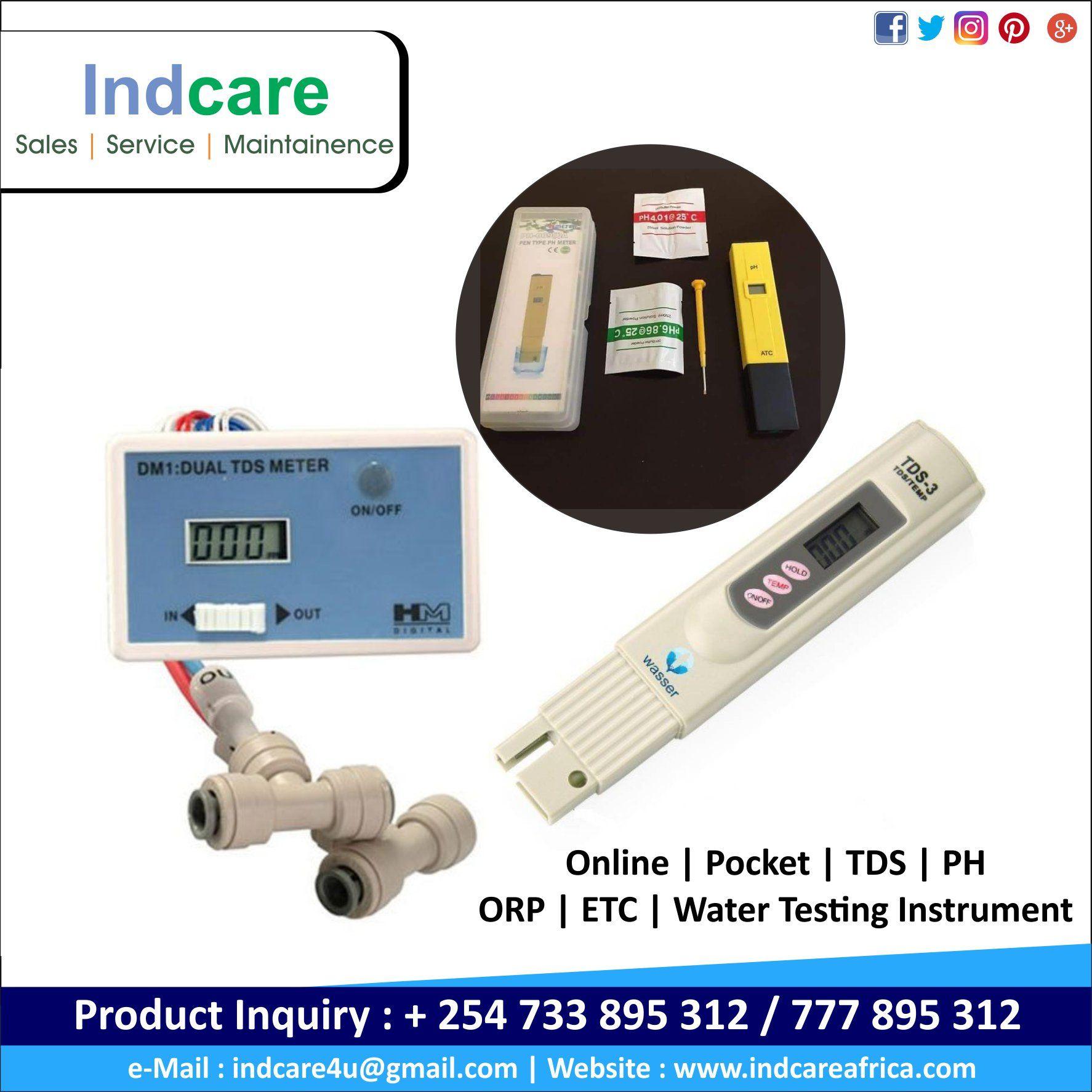 Online Pocket Tds Ph Orp Etc Water Testing Instrument At Indcare Africa Ltd Building No 30 Wastewater Treatment Water Treatment Africa