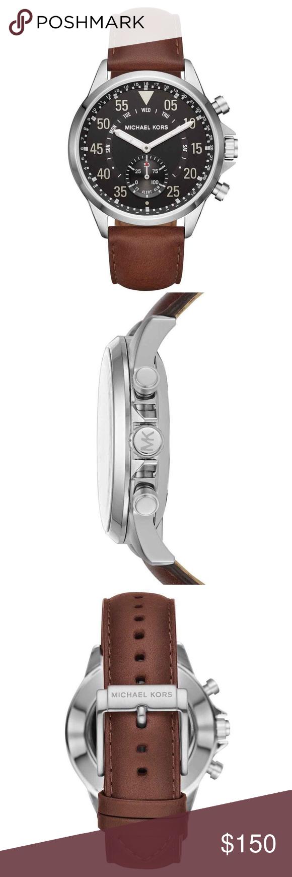 3e3281be6265 Michael Kors Access Men s Gage Hybrid Smartwatch Michael Kors Access Men s  Gage Brown Leather Hybrid Smartwatch