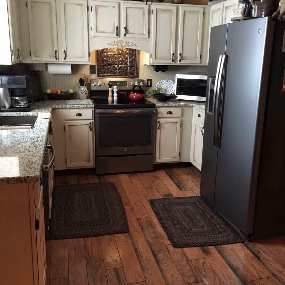 Primitive Annie Sloan Old Ochre Kitchen Cabinets Kitchen Cabinets Kitchen Remodel House Design