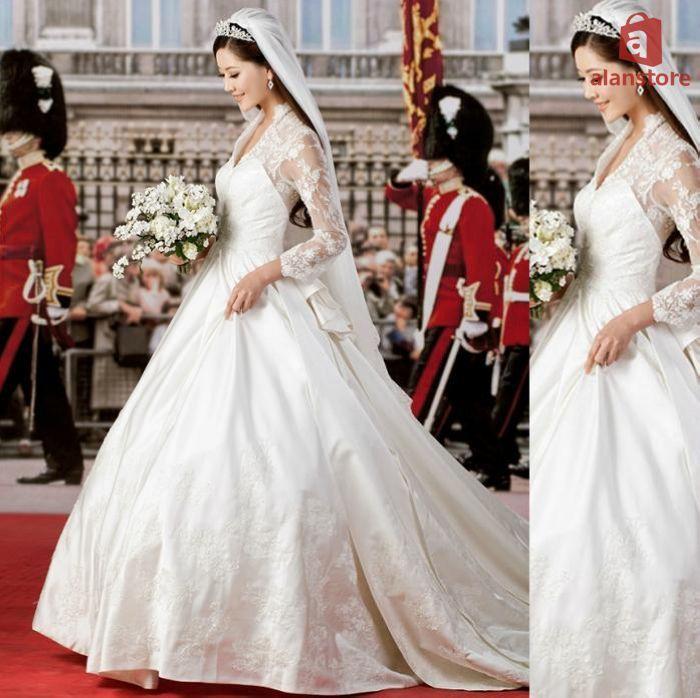 Princess Style Wedding Dresses | Full Sleeve Sweet Princess Style ...