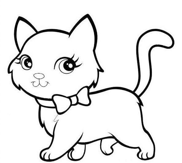 Mewarnai Gambar Kucing | dony | Pinterest