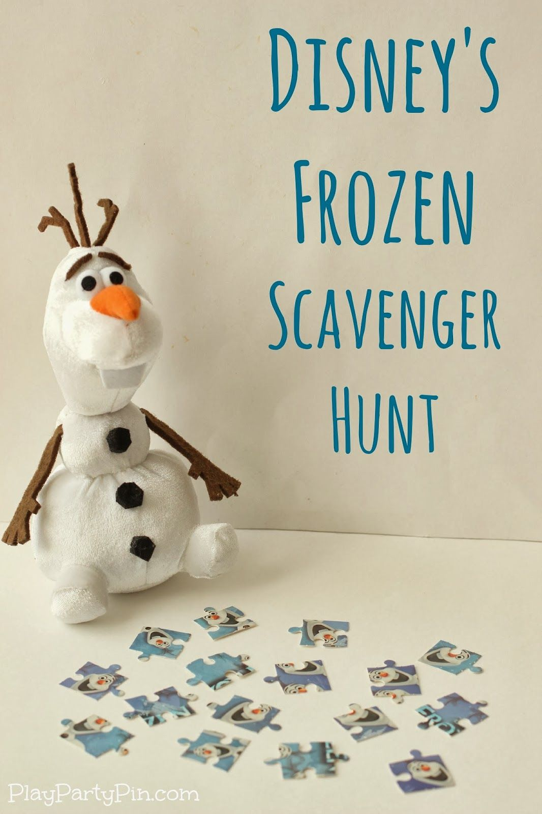 Disneys FROZEN scavenger hunt and Frozen party game ideas for kids