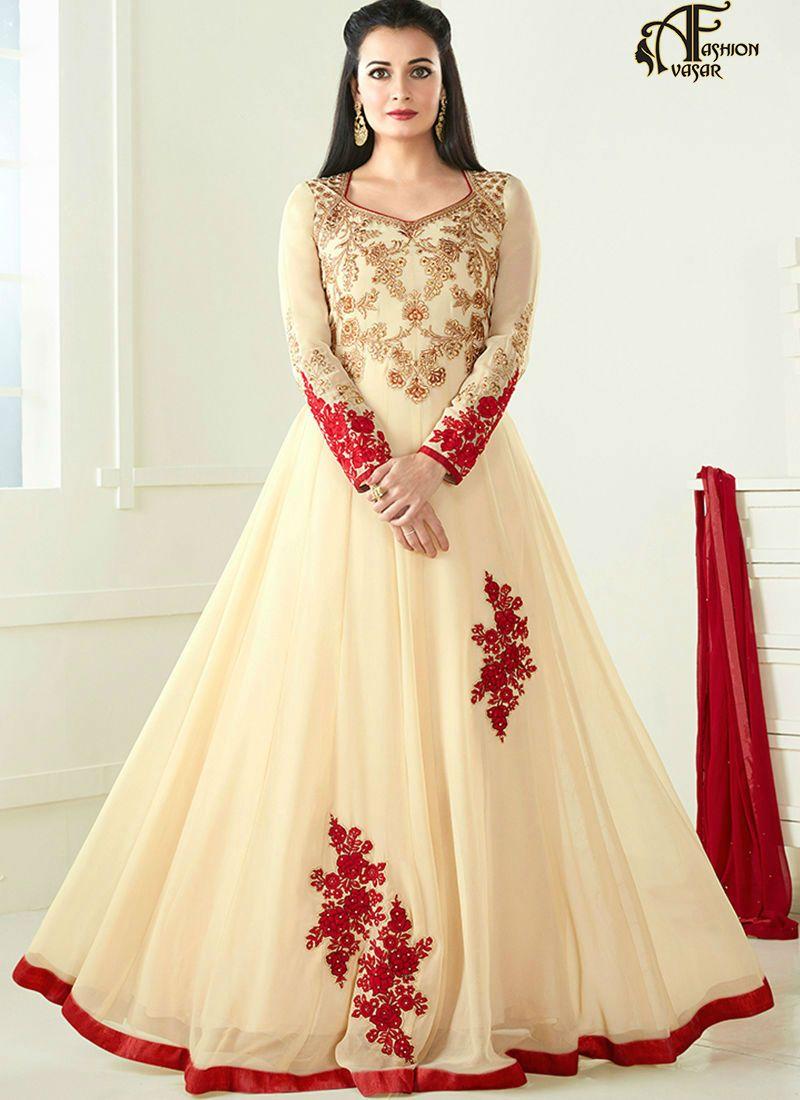 03cff766b Bollywood Anarkali. Diya Mirza Anarkali Dress. Bollywood Anarkali ...