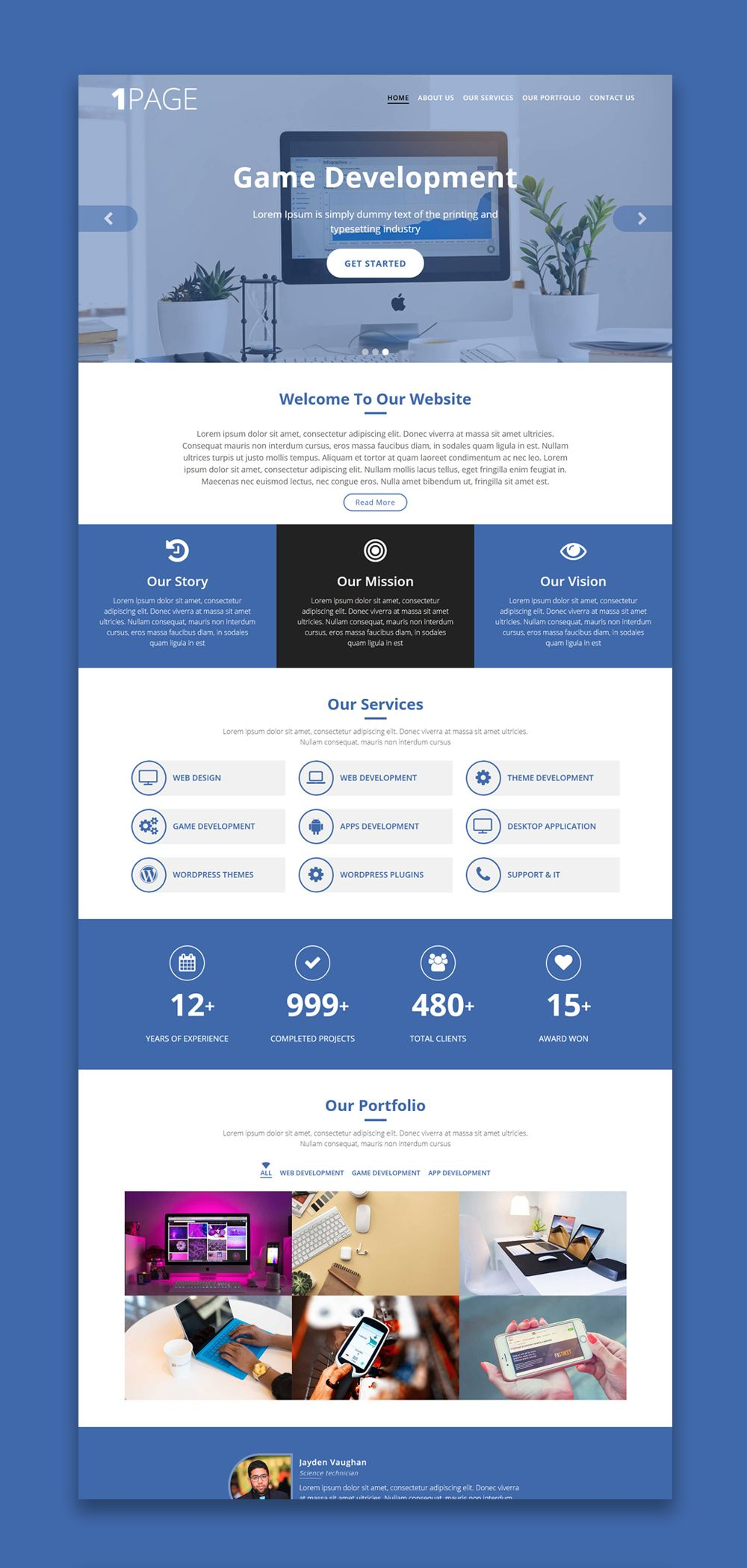 One Page Website Template Free Website Templates Free Html Website Templates Website Template