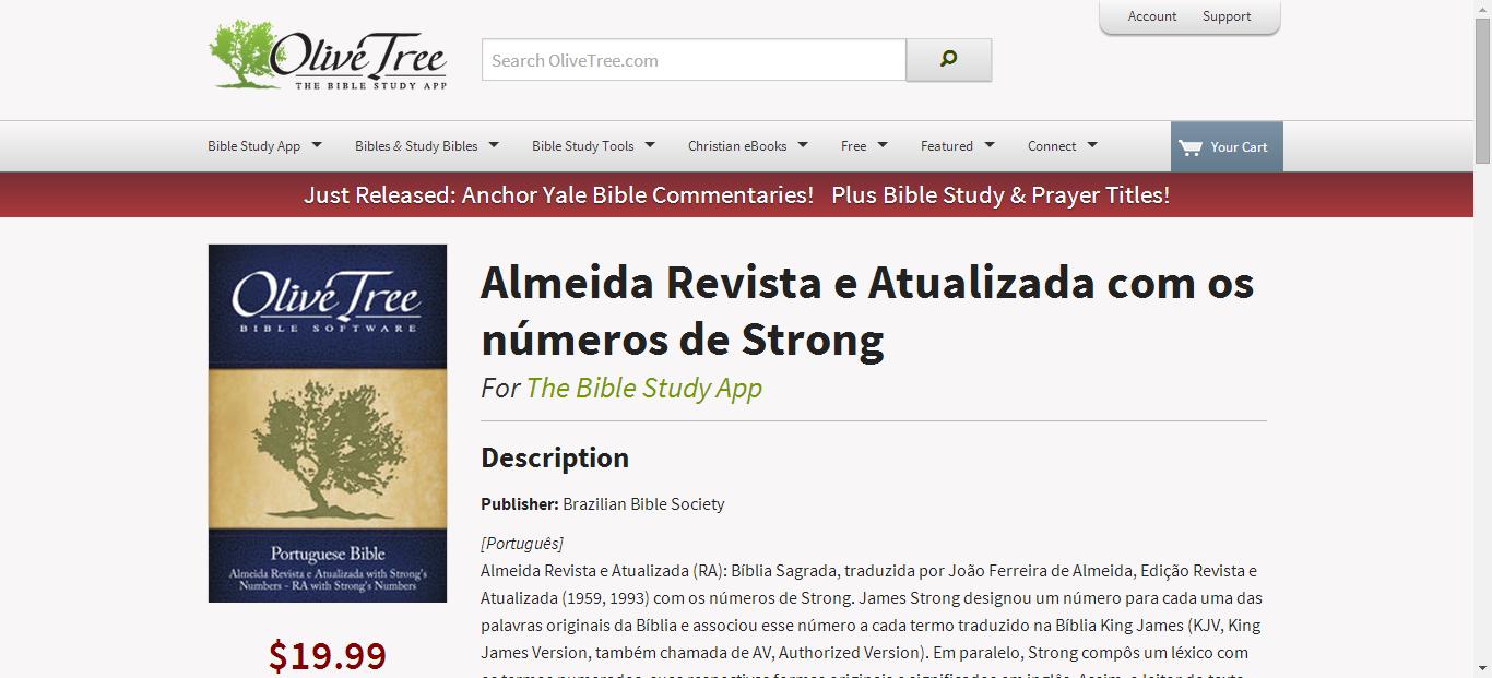 Almeida Revista e Atualizada com os números de Strong for
