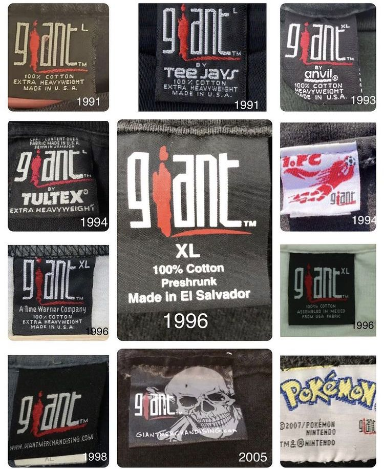 Vintage Giant Rock T Shirt Tags In 2021 Rock T Shirts Vintage Tags Clothing Tags