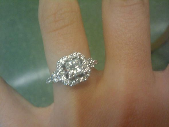 princess cut halo engagement rings jared 42 - Wedding Rings Jared