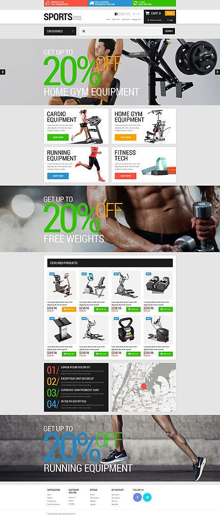 Sports, Exercise & Fitness #OpenCart #webtemplate #themes #business #responsive #template