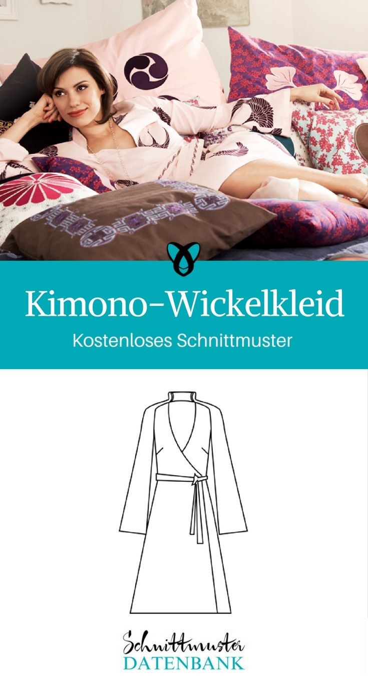 Kimono-Wickelkleid 4/5 (1) | Kimono-stil, Wickelkleid und ...