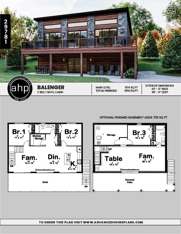 Modern Cabin In 2020 Lake House Plans Modern Cabin Model House Plan