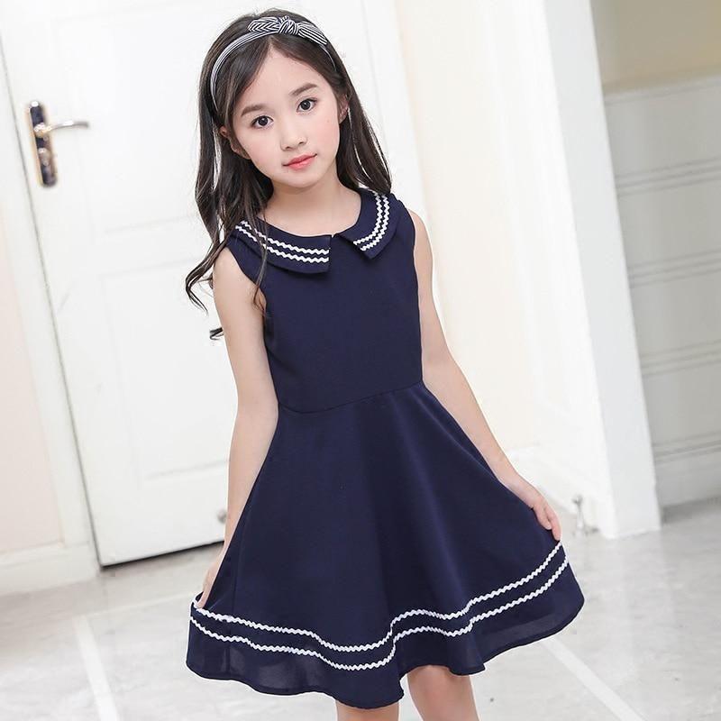 0eb760f61cf4f Elegant little girls dresses summer 2018 big girl dress teenage ...
